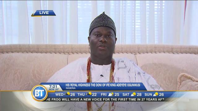 1 Ooni of Ife interview by Breakfast Television Toronto Canada