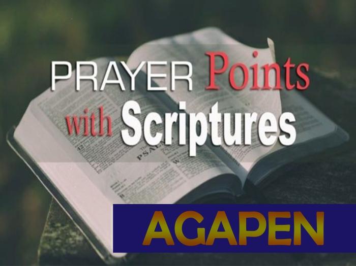 1 prayers pointsAGAPEN1