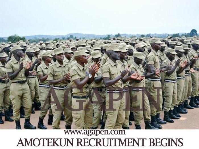 Amotekun recruitmentAGAPEN