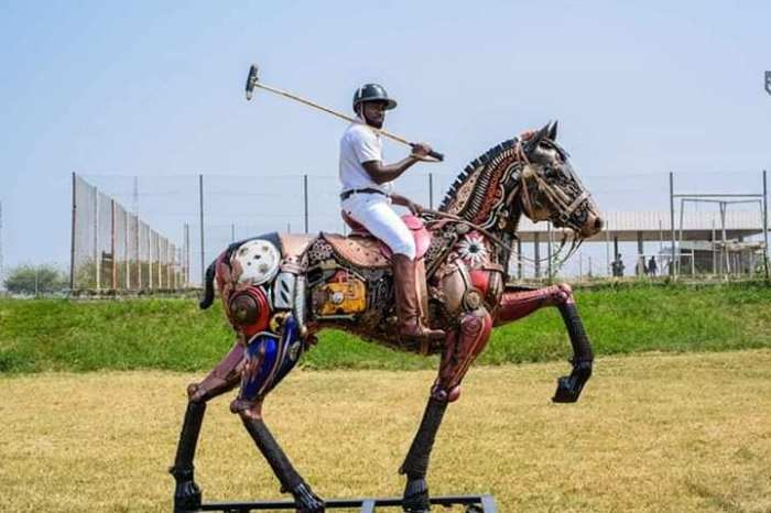 Nigerian sculptor DOTUN POPOOLA makes life-size sculptures using scrap metal and found objects1