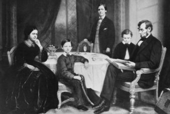 Portrait of Abraham Lincoln's Family by Francis Bicknell Carpenter