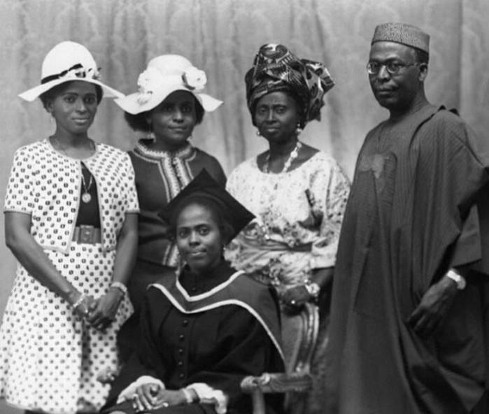 Chief Hannah Idowu Dideolu Awolowo and children-AGAPEN