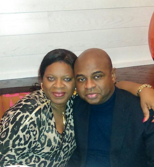 Kingsley Moghalu and wife