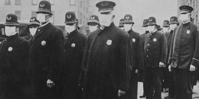 wearing mask during The 1918 Flu Pandemic-AGAPEN